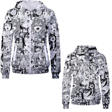 2019 Unisex Cotton Hooded Sweatshirt Anime Aheigao Uniform 3D Hoodies Cute Cartoon Cosplay Costume