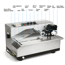 Automatic Coder Machine Ink Wheel Coding Machine Production Date Shelf Life Printer MY-380F 100% warranty semi automatic round bottle labeling machine with date stamp coder for different size round bottle