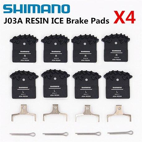 Set of Shimano J02A Resin Cooling Fin Ice Tech Disc Brake Pads XT XTR SLX Deore