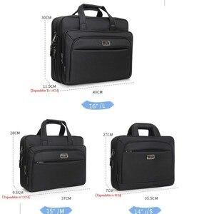 """Image 4 - Serviette Business pour hommes, serviette de grande capacité, sac à bandoulière simple pour hommes 14 """"15"""" 16 """"2020, sac pour le travail et le bureau, nouvelle collection pochette dordinateur"""