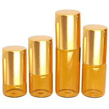 5pcs portable brown ball bottle perfume sub-bottle 5ml goblet essential oil