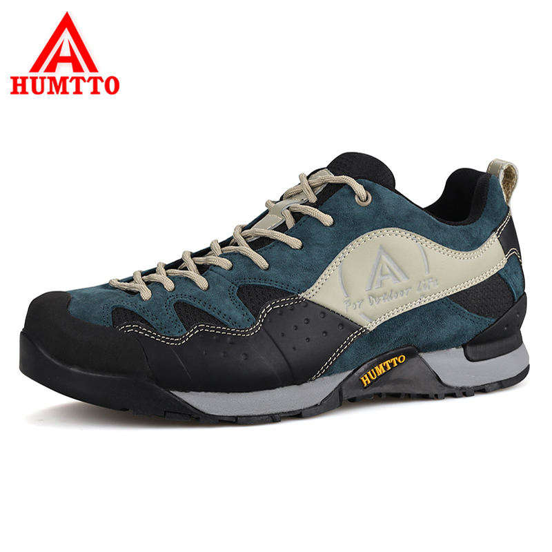 HUMTTO New Hiking Shoes Men Outdoor Mountain Climbing Trekking Shoes Fur Strong Grip Rubber Sole Male Sneakers Plus Size sporty armband for samsung galaxy ace s5830 red black