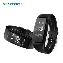 Smarcent оригинальный S1 умный Браслет Bluetooth 4.0 Водонепроницаемый монитор сердечного ритма фитнес-трекер Smart Band PK ID107