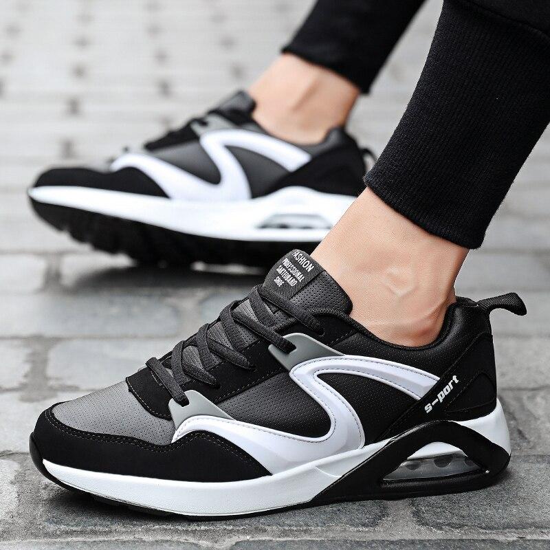 Estilo black Blue Casuais black Homens 2018 5 White Black Livre Moda Para Respirável Red Ao Sapatos up And Casual Ar Homem Lace Outono Primavera nXBBF5x1