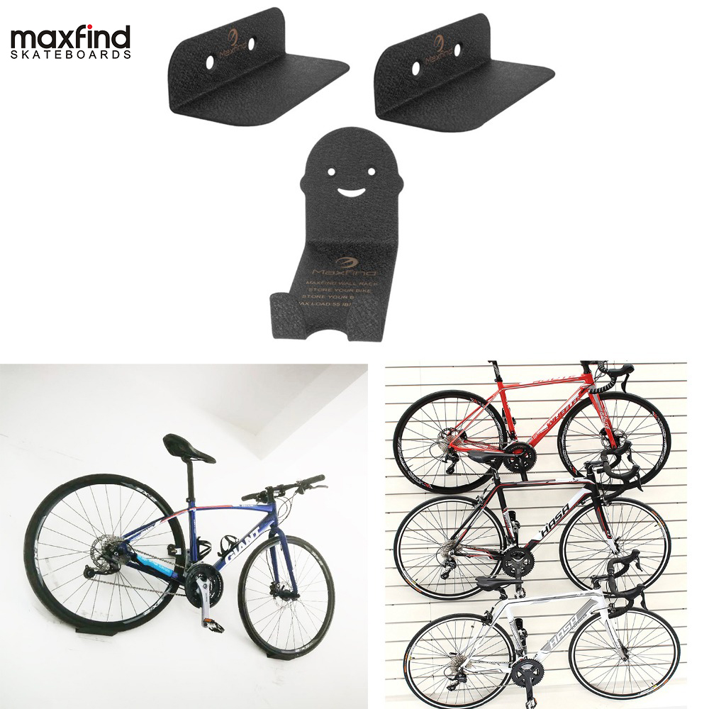Black Bicycle Bike Wall Mount Hook Hanger Garage Storage Holder Rack Stand