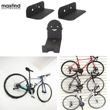 Maxfind 3pcs/set 100KG Capacity Bicycle Rack Wall Mount Hanger Storage Stand Holder Steel Hook Accessories