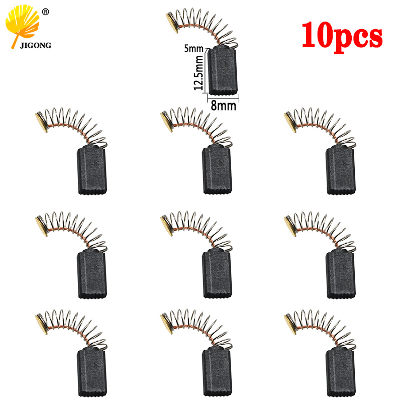 10pcs Mini Drill Electric Grinder Replacement Carbon Brushes Spare Parts For Electric Motors Rotary Tool 5x8x12.5mm