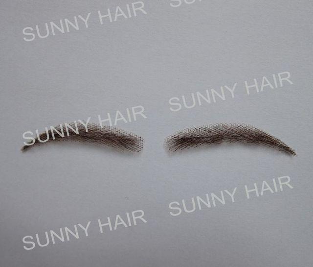 0117 hand made human hair hand knot fake eyebrow 4