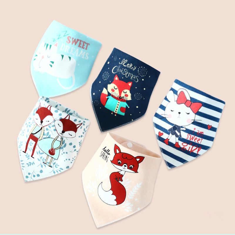 Bavoirs bébé pour garçon fille Bandana bavoir roter tissu imprimé Animal Triangle coton bébé écharpe repas collier roter bébé accessoires
