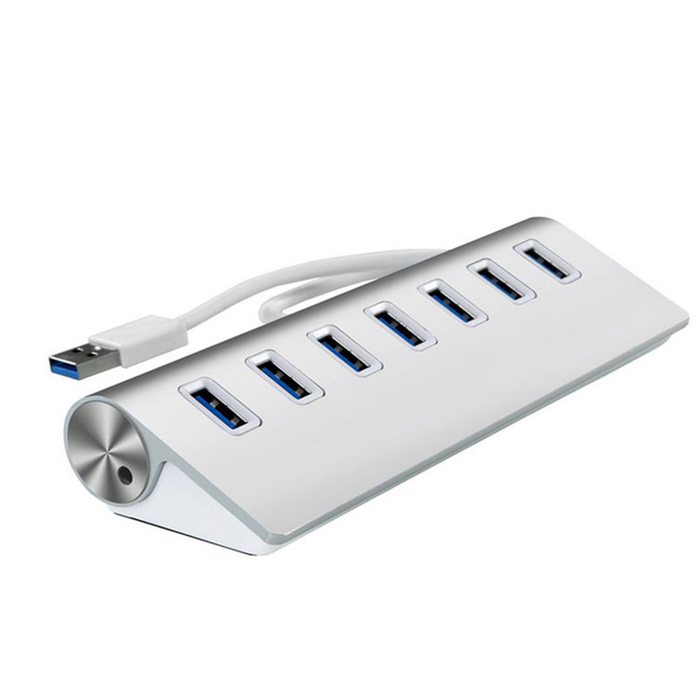 Cool Gadgets USB Hub 3.0, Leadzoe Portable Aluminum 7 Port USB 3.0 Hub for Data Transfer with build-in USB Cable for MacBook Air and more
