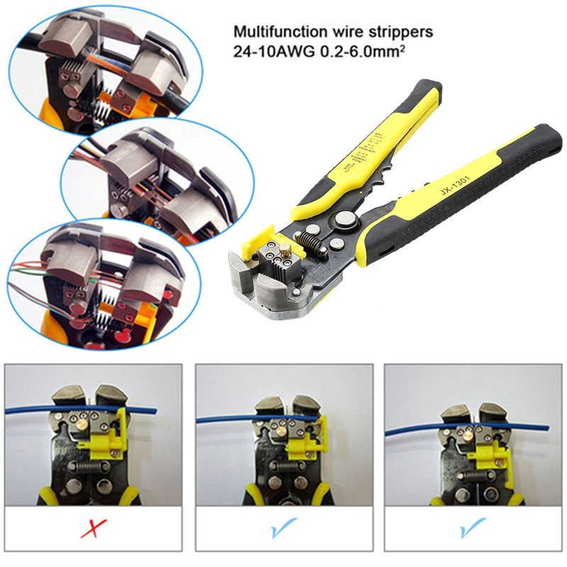 Doersupp 4in1 JX-D4301 Wire Stripper Wire Crimpers Engineering Ratcheting Terminal Crimping Pliers Manganese Steel 4 Interchange цена