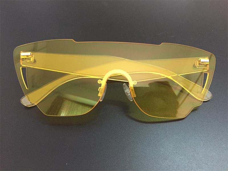 HTB1uz8vRpXXXXbVaXXXq6xXFXXXP - Candy Color Sunglasses Flat Top Rimless Sunglasses
