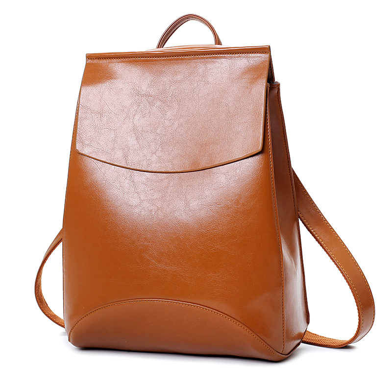 Women Vintage Backpack Designer High Quality Leather Backpacks For Teenage Girls Sac A Main Female School