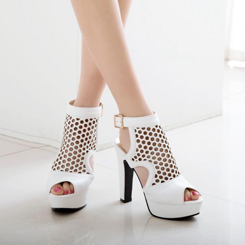 Blxqpyt пикантные модные летние сандалии женские большие размеры 34 50 свадебные туфли на высоком каблуке вечерние женская обувь Туфли лодочки н... - 5