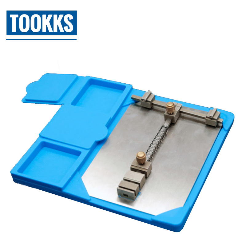 High Temperature Resistant PCB Chips Clip Holder Maintenance Heat Insulation Pad Platform With Electronic Components Storage Box
