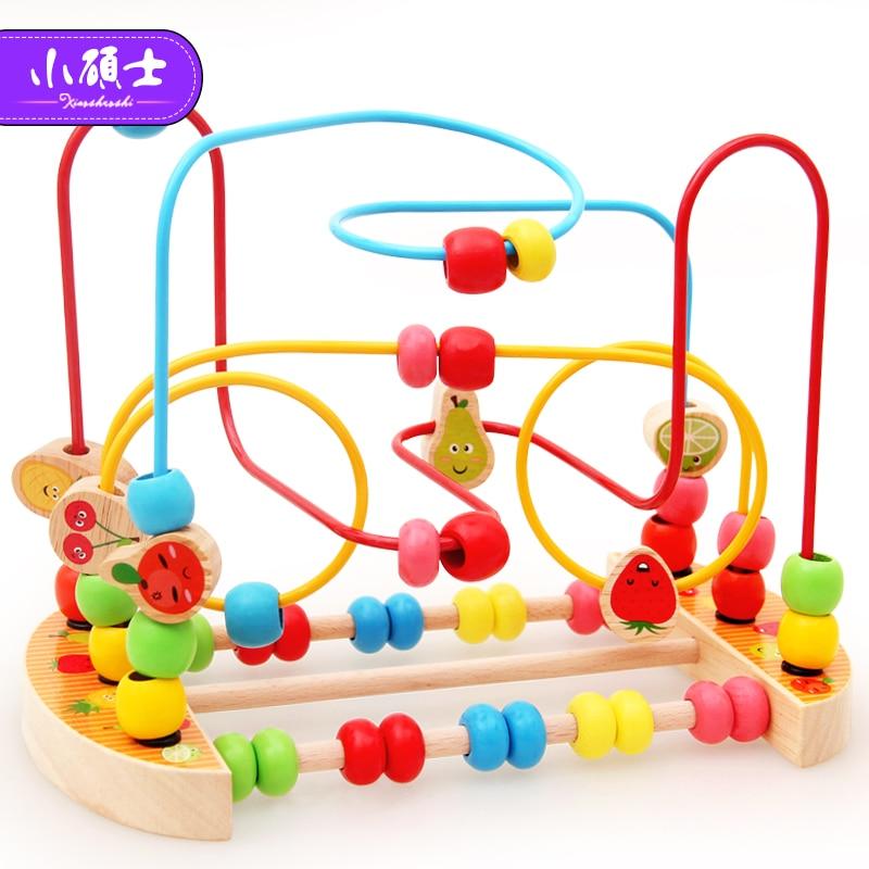 Holz Math Spielzeug, Zählen Kreise Bead Abacus Draht Maze Spielzeug ...