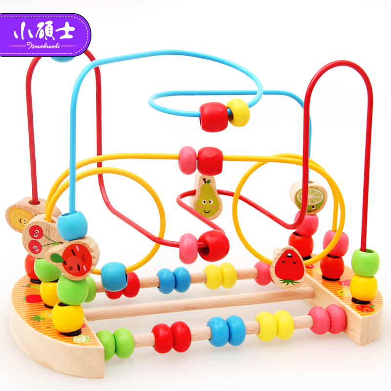 Kidus Wooden Math Toy Counting Circles Bead Abacus Wire Maze Roller Coaster Montessori Educational for Children chilrden wooden counting circles bead abacus wire maze roller coaster kids wooden montessori learning educational toys