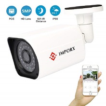 IMPORX 5MP POE IP Camera Super HD 2592x1944 Outdoor Waterproof Infrared Night Vision Onvif P2P Dome Network Camera H.264/H265 цены