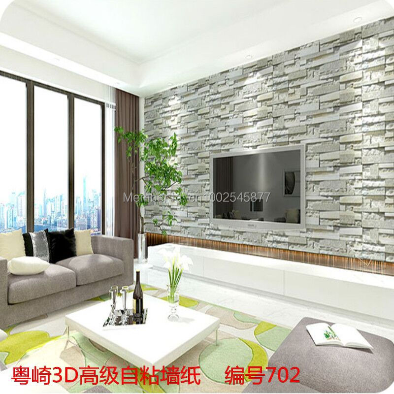 Luxury Stone Brick wall Pvc Vinyl Wallpaper 3D brick wall imported wallpaper Living Room Background Wall Decor Art WallPaper-in Wallpapers from Home ...