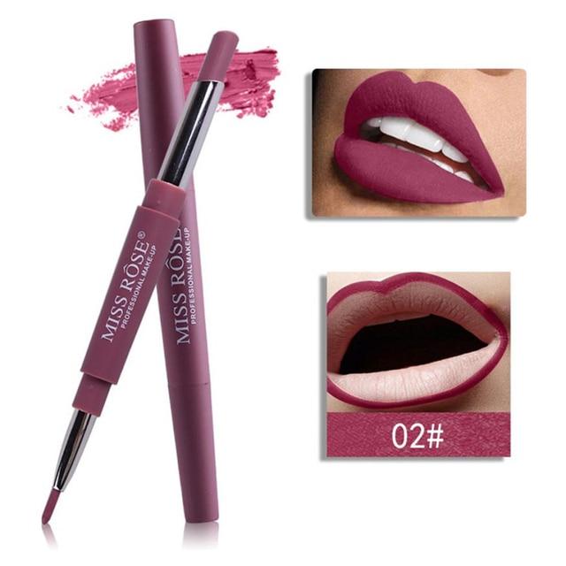 מיס רוז 14 צבע כפול סוף שפתונים שנמשך Lipliner עמיד למים Profissional קרם אניה מקל עיפרון batom מט