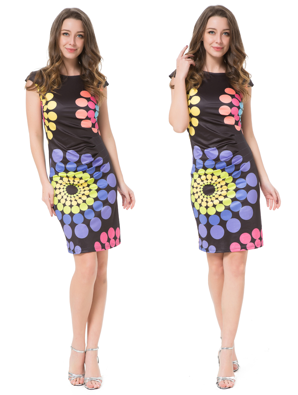 17 Kaige Nina dress Women bodycon dress plus size women clothing chic elegant sexy fashion o-neck print dresses 9026 13