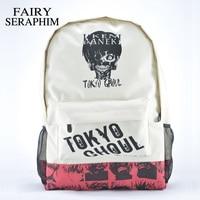 Фея Серафима цвет хаки унисекс с принтом головы рюкзаки подростков японского аниме школьные сумки Mochila Токио вурдалак рюкзак