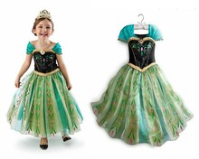 New Baby Girls Summer Princess Party Dress Vetidos Children Kids Elsa Anna Cosplay Dresses Fashion Clothes Child Clothing