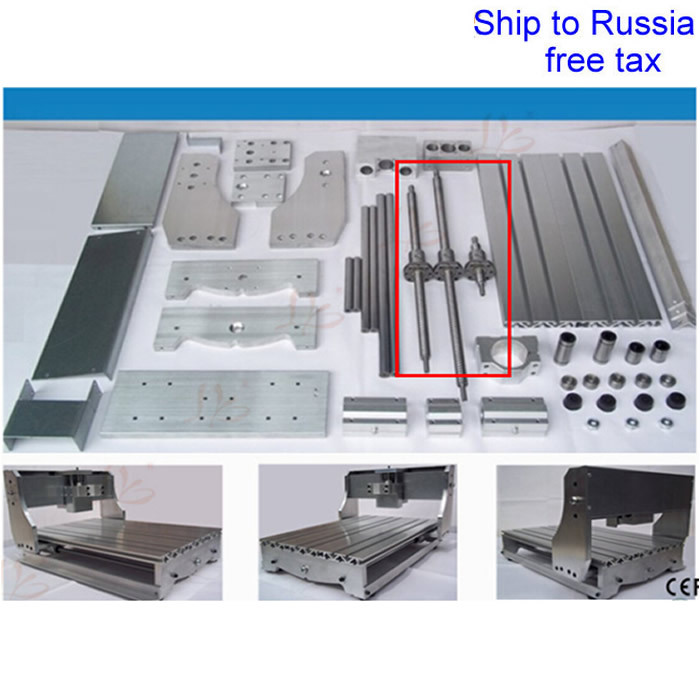 3020Z DIY CNC frame of carving machine with ball screw to Russia free tax