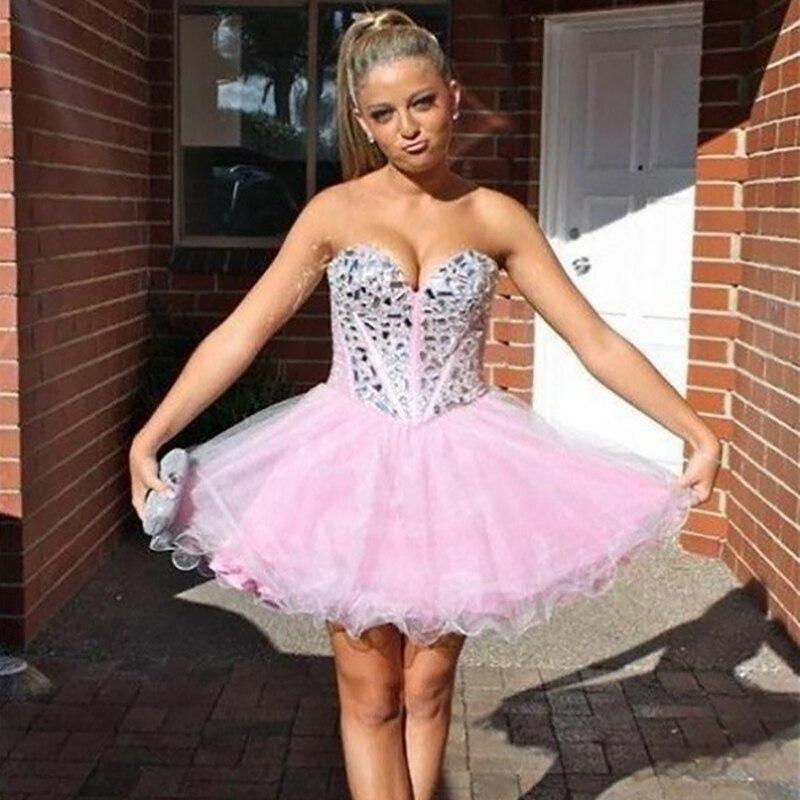 Popular Short Tulle Hot Pink Homecoming Dresses-Buy Cheap Short ...