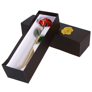 Image 2 - חג אהבת מתנת יום הולדת מתנת 24k זהב מצופה עלה עם תיבת אריזת מתנה יום הולדת אמא של יום מתנת יום נישואים