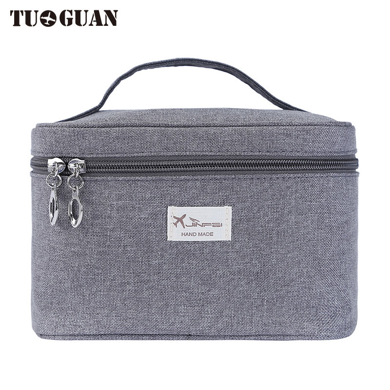 TUGUAN Men/Women Cosmetic Cases Travel Toiletry Bag Portable Mirror Make up Organizer Wash Pouch Storage Bags Boxes for Girl Boy