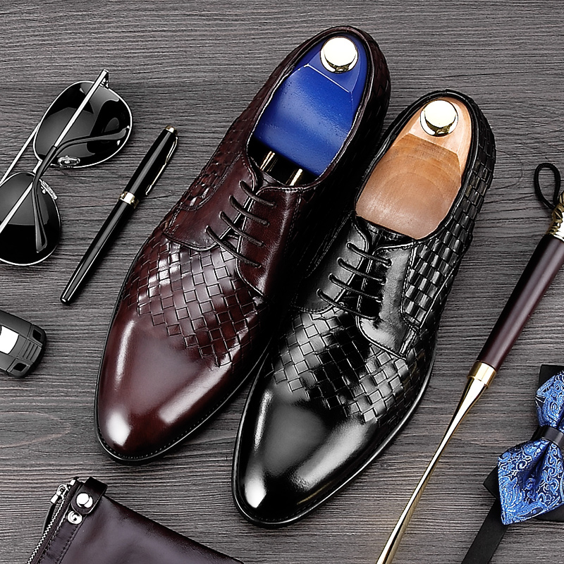 High Quality Round Toe Man Formal Dress Shoes Genuine Leather Handmade Party Oxfords Luxury Men's Wedding Bridal Footwear MG47 ruimosi new arrival formal man bridal dress flats shoes genuine leather male oxfords brand round toe derby men s footwear vk94