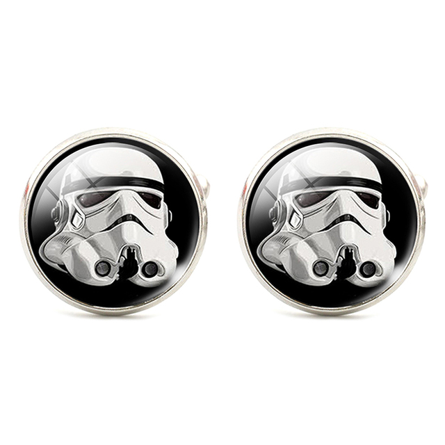 Classical Silver Plated Star Wars Cufflinks for Men