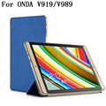 Ultra fino dobrável PU caso capa de couro para ONDA V919 ar / V989 de 9.7 polegada tablet, Sku 013Z2A