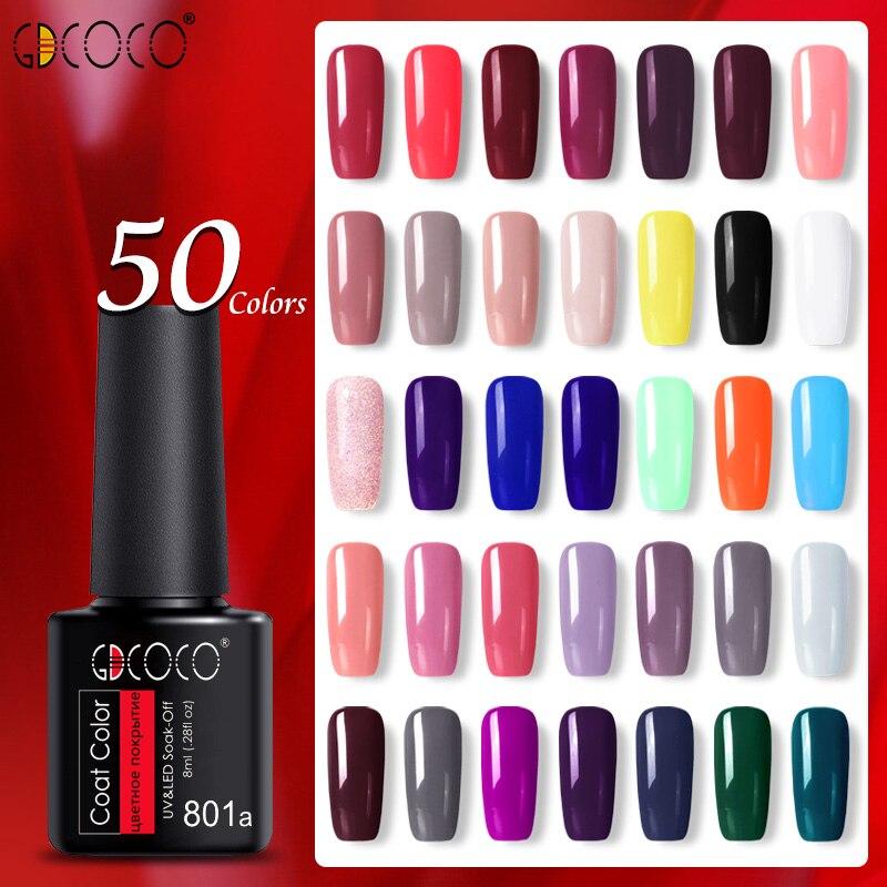 55 pièces/ensemble couleur vernis à ongles vernis GDCOCO bouteille en plastique moins cher longue durée Gel vernis à ongles apprêt couche de finition