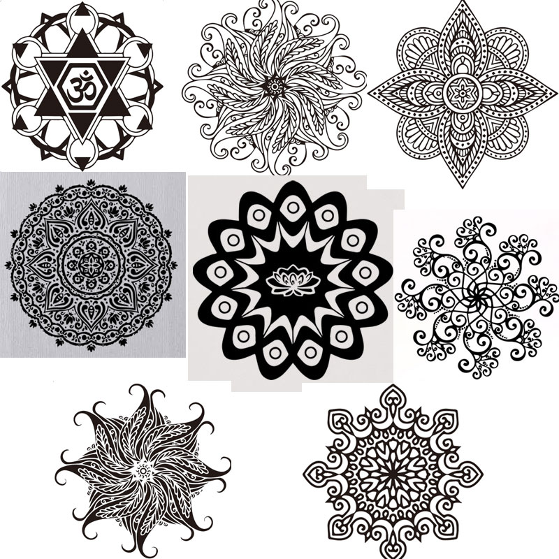 India wall murals reviews online shopping india wall for Mural mandala