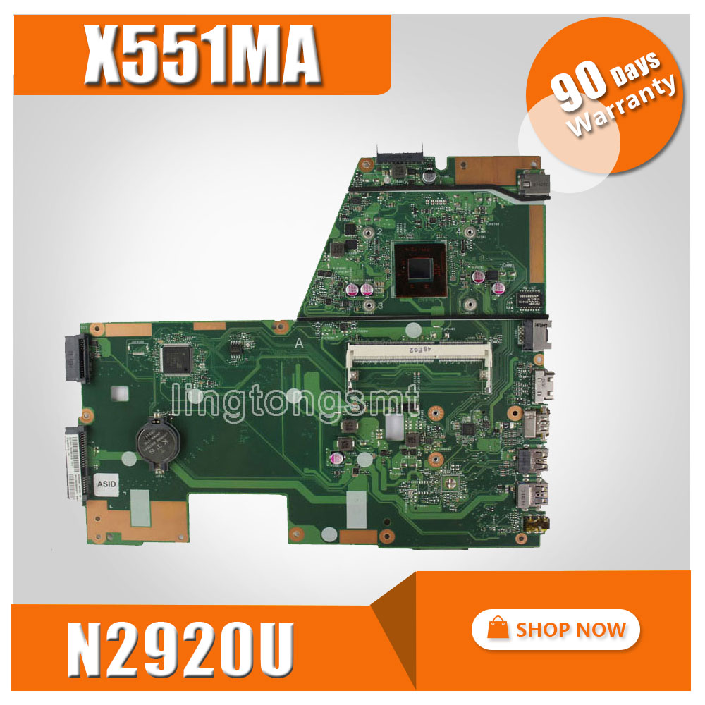 For ASUS D550MA F551MA Motherboard X551MA motherboard REV2.0 DDR3 Processor N2920 100% tested ipc motherboard sbc81206 rev a3 rc 100