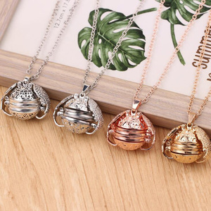 Image 1 - 10pcs/lot Fashion Jewelry Pendant Necklace Angel Wing Memory Floating Locket 4 Photos For Unisex Accessories