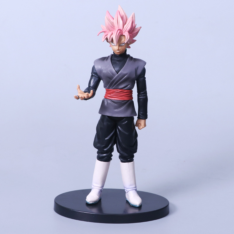 2018 NEW Dragon Ball Z soul X soul Super Saiyan Pink Hair Son Goku Black Action Figure Dragonball Gokou PVC Model Doll Toys dragon ball dxf the super warriors vol 3 super saiyan rose gokou black and vegetto pvc figure collectible model toys kt4201