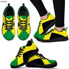 INSTANTARTS Jamaica Flags Printed Man Running Shoes Athletic Air Mesh Sneakers B