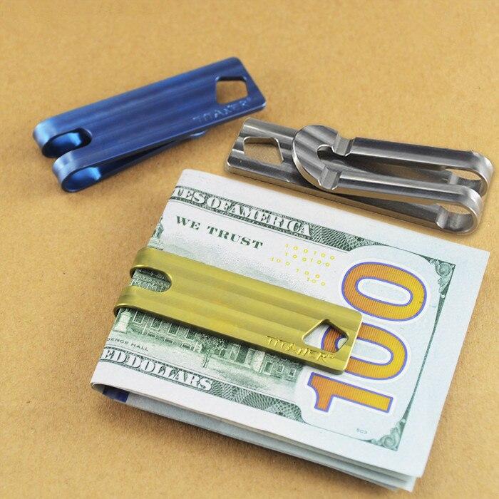 Cadeaux de noël! Porte-monnaie en alliage de titane porte-clés superbe EDC multi-outils porte-clés utilisation Camping poche