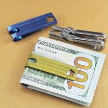 Christmas Gifts! Titanium Alloy Wallet Banknote Belt Key Ring Superb EDC Multi Tools Keychain Utiliity Camping Pocket