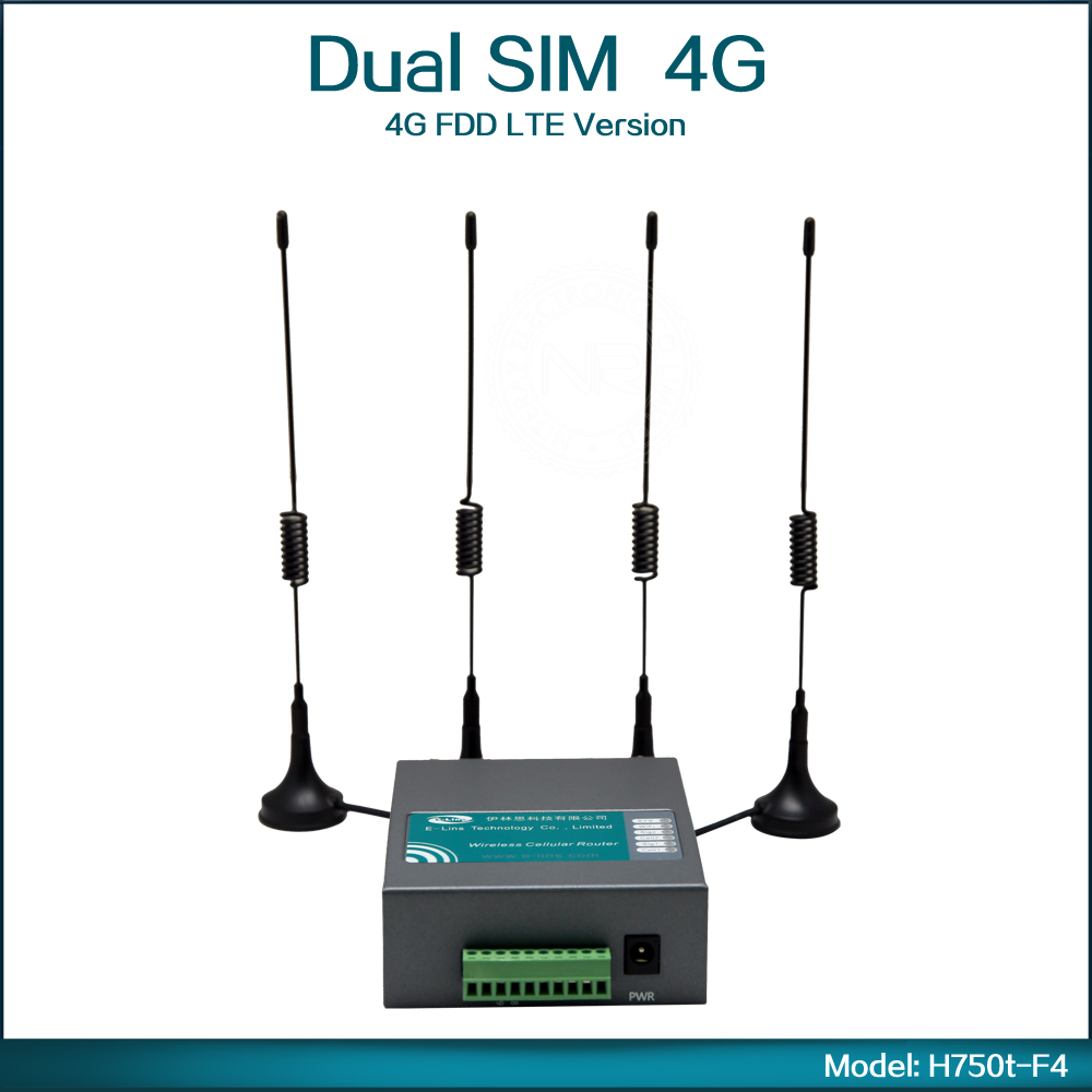 4G FDD LTE Wifi Router with Dual Sim Card Slot for North America (Model: H750t F4)