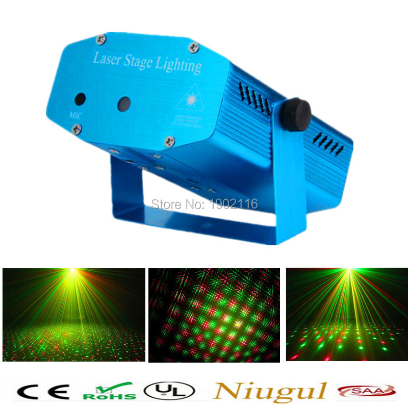 Best Quality Mini aluminium alloy LED Laser Pointer Disco Stage Light Party Pattern Lighting Projector Show laser projector diy square ndfeb magnet silver 30 x 20 x 5mm