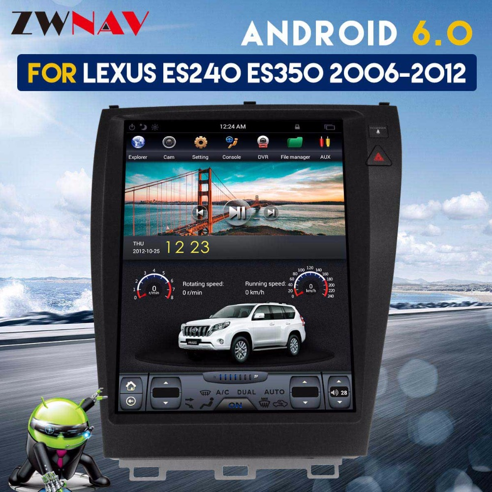 hight resolution of zwnva tesla style ips screen for lexus es240 es250 es300 es330 es350 android 6 0 2 64gb radio car gps navigation no dvd player