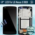 Для LG D820 ЖК-ДИСПЛЕЙ для Nexus 5 D821 ЖК-Дисплей С Сенсорным Экраном Дигитайзер Ассамблеи Рамка (тупая польский)-Черный + инструменты