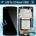 For LG D820 LCD for Nexus 5 D821 LCD Display Touch Screen Digitizer Frame Assembly (dull polish)- Black + tools