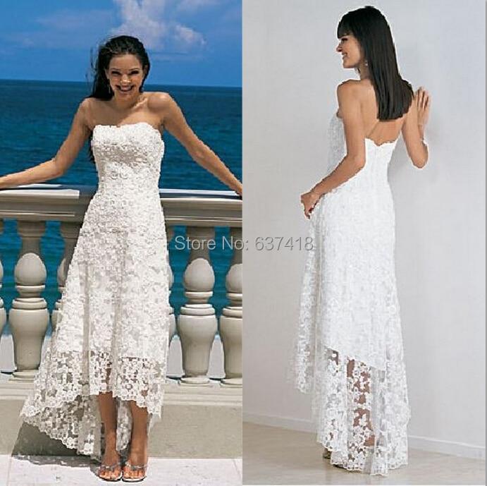 Popular Lace Beach Wedding Dress-Buy Cheap Lace Beach Wedding ...