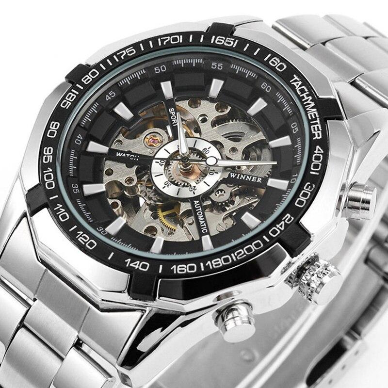 Gewinner Uhrmänner Skeleton Automatische Mechanische Uhr Gold Skelett Man Uhrmens FORSINING Uhr Top-marke Luxus