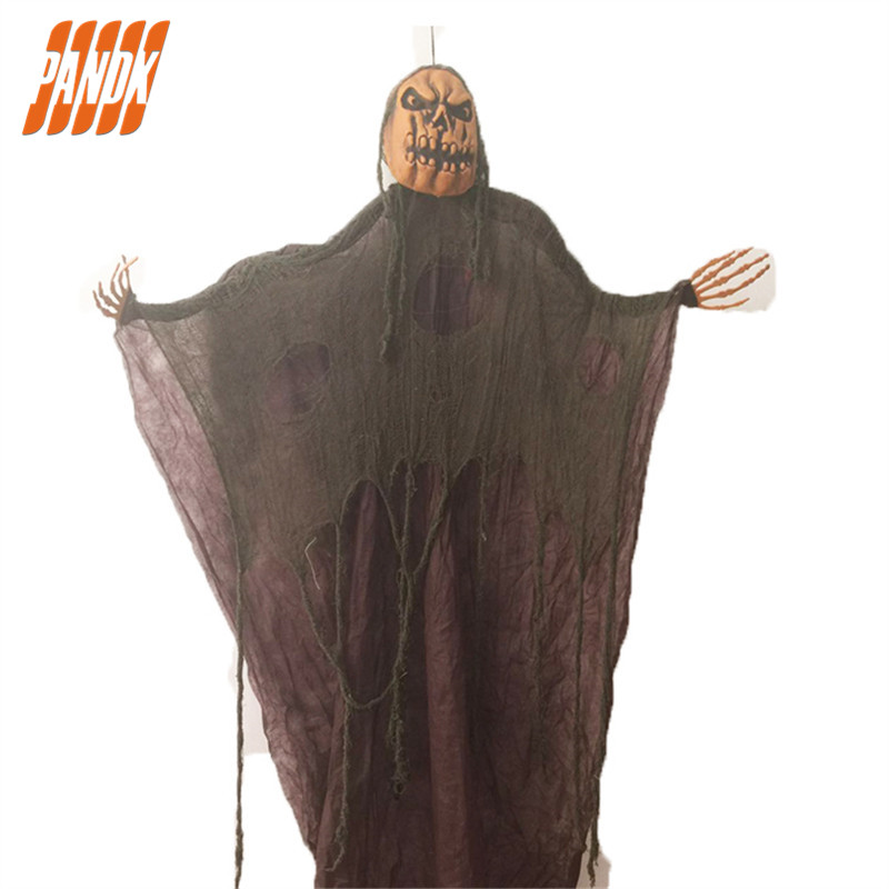 5 Ft Halloween Props Hanging Ghost Tricky Scary Skull
